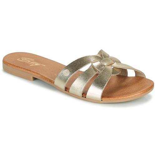 Chaussures Femme Mules Betty London OIGILE Doré