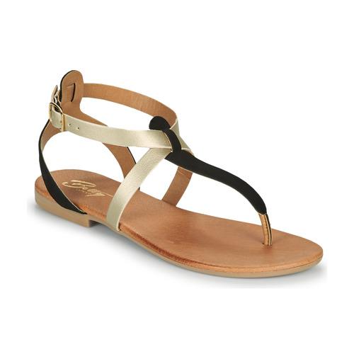 Chaussures Femme Sandales et Nu-pieds Betty London ORIOUL Noir/doré