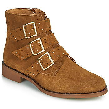 Chaussures Femme Boots Betty London LYS Cognac