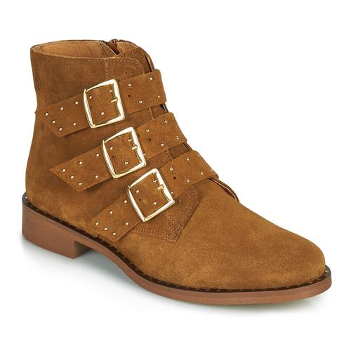Chaussures Femme Boots Betty London LYS Cognac