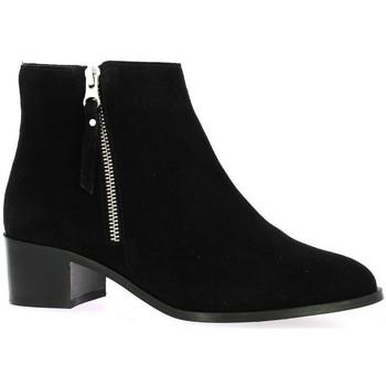 Chaussures Femme Boots Impact Boots cuir velours Noir