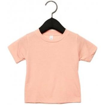 Vêtements Enfant T-shirts manches courtes Canvas CA3413T Rose pâle