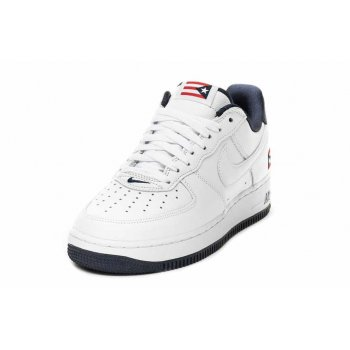Chaussures Baskets basses Nike Air Force 1 Low Puerto Rico True White/True White-Obsidian-Comet Red