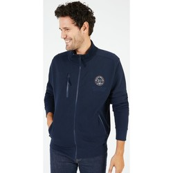 Vêtements Homme Sweats Black Wellis Sweat zippé col montant WELLINGTON Bleu marine