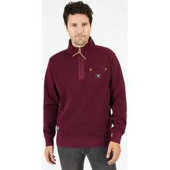 Vêtements Homme Sweats Black Wellis Sweat col montant zippé 1859 WELLINGTON Bordeaux