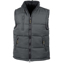 Vêtements Gilets / Cardigans Result Doudoune Sans Manche  Doublé noir