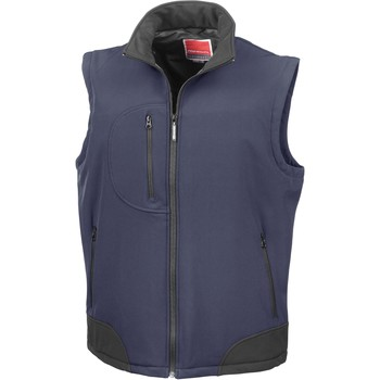 Vêtements Gilets / Cardigans Result Doudoune Sans Manche  Softshell bleu marine