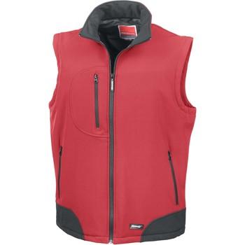 Vêtements Gilets / Cardigans Result Doudoune Sans Manche  Softshell rouge/noir