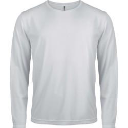 Vêtements Homme T-shirts manches longues Proact T-Shirt manches longues  Sport blanc blanc
