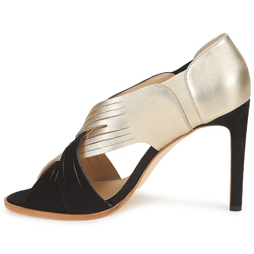 Femme Minek Escarpins NoirDoré Chaussures Moschino WdCBoreQx