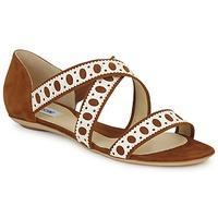 Chaussures Femme Sandales et Nu-pieds Moschino DELOS SAND Camel / Ivoire