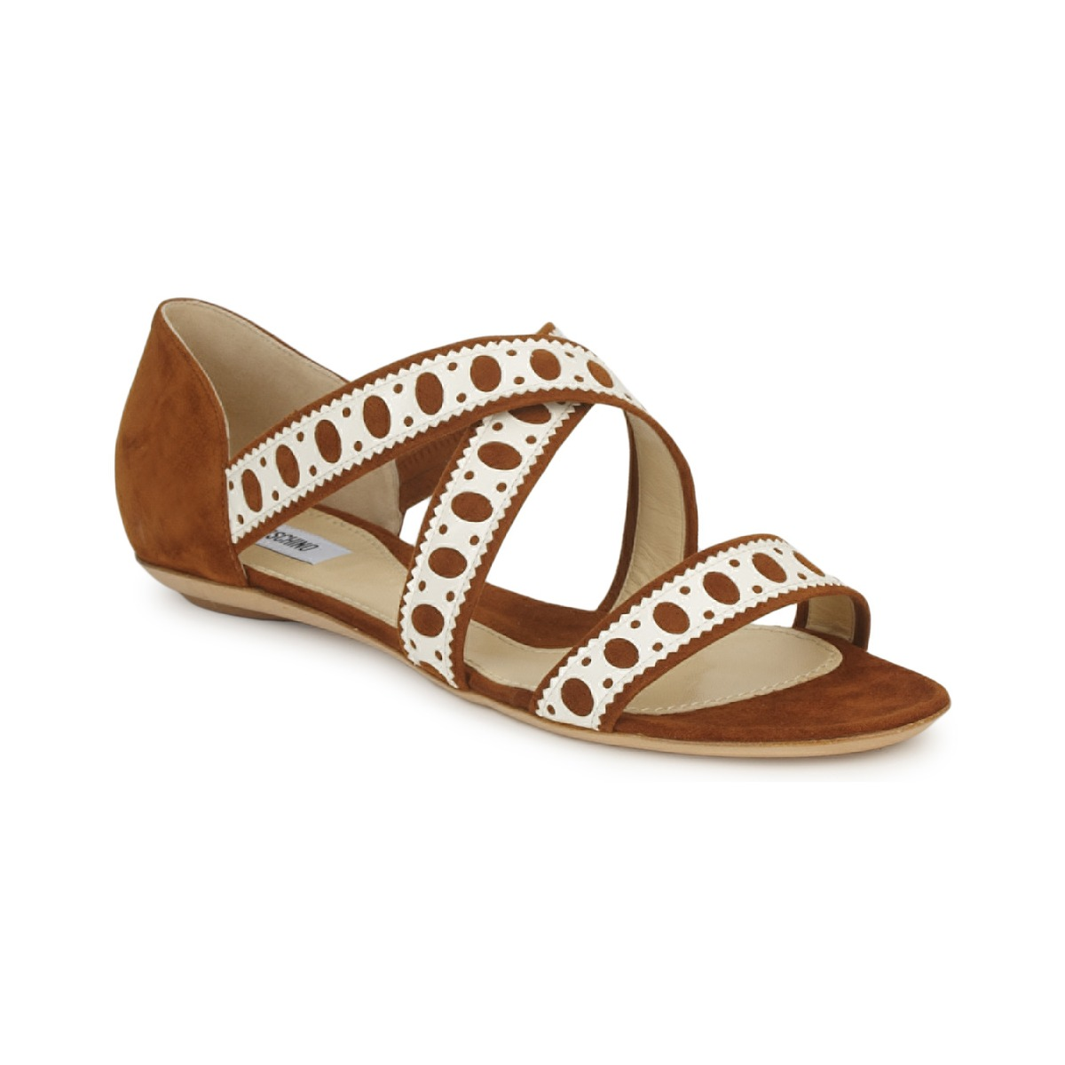 Sandale Moschino DELOS SAND Camel / Ivoire