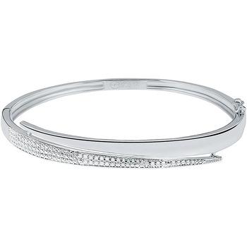 Montres & Bijoux Bracelets Cleor Bracelet  en Argent 925/1000 et Oxyde Blanc