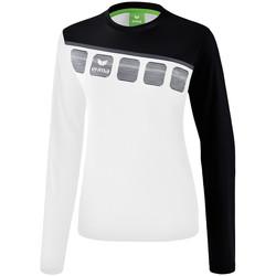 Vêtements Femme Sweats Erima Haut d'entrainement femme manches longues  5-C blanc/noir/gris
