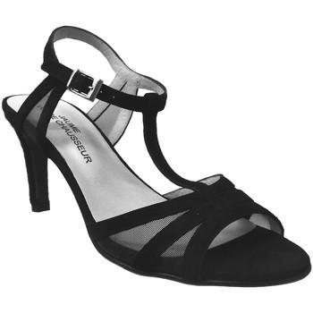 Chaussures Femme Sandales et Nu-pieds Brenda Zaro F2039 Noir  velours