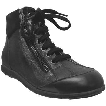 Chaussures Femme Boots Folies Zoum Noir cuir