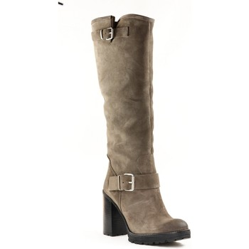 Chaussures Femme Bottes Paoyama KISS Taupe