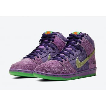 Chaussures Baskets montantes Nike SB Dunk High 420 Reverse Skunk  University Red/Spinach Green/Magic Ember