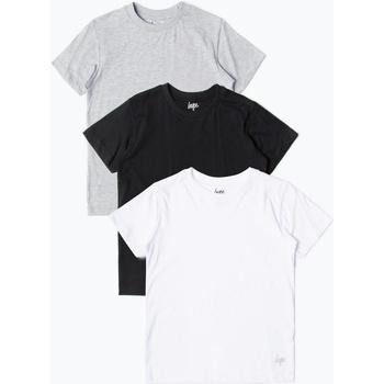 Vêtements Enfant T-shirts manches courtes Hype  Noir / blanc / gris
