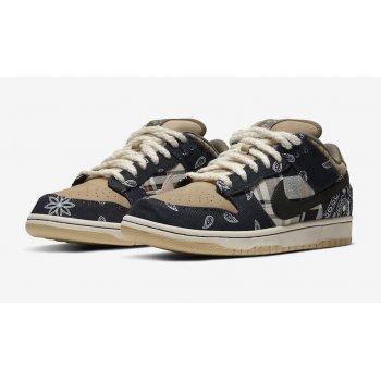 Chaussures Baskets basses Nike SB Dunk Low x Travis Scott Black/Black/Parachute Beige/Petra Brown