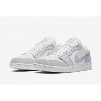Chaussures Baskets basses Nike Air Jordan 1 Low Paris White/Sky Grey-Football Grey