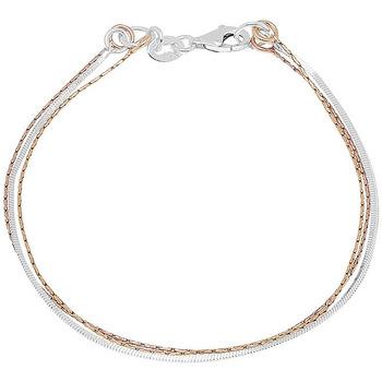 Montres & Bijoux Bracelets Cleor Bracelet  en Argent 925/1000 Gris