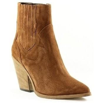 Chaussures Femme Bottines Giancarlo G104 Camel