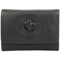 Sacs Femme Portefeuilles LANCASTER Porte monnaie  en cuir grainé sobre 1732 Noir Multicolor