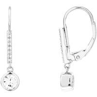 Montres & Bijoux Boucles d'oreilles Cleor Boucles d'oreilles  en Argent 925/1000 Blanc et Oxyde Blanc