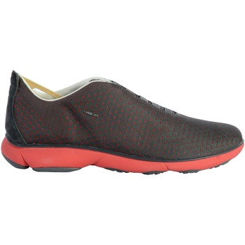 Chaussures Homme Baskets basses Geox Basket U Nebula E - Jaquard Text.Recy Antracite Rouge