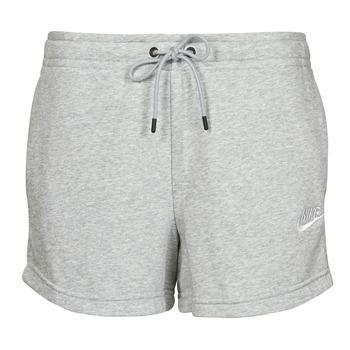Vêtements Femme Shorts / Bermudas Nike NSESSNTL FLC HR SHORT FT Gris / Blanc