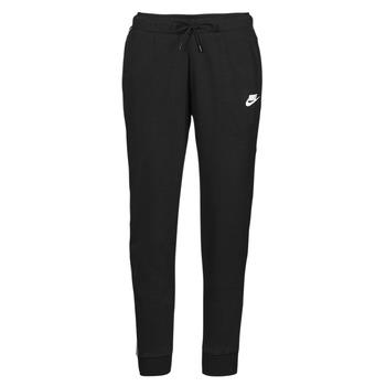Vêtements Femme Pantalons de survêtement Nike NSMLNESSNTL FLC MR JGGR Noir / Blanc