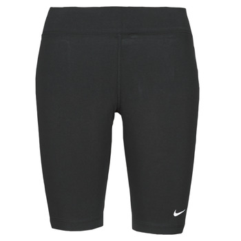 Vêtements Femme Leggings Nike NSESSNTL MR BIKER SHORT Noir / Blanc