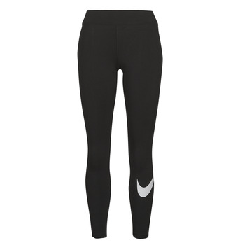 Vêtements Femme Leggings Nike NSESSNTL GX MR LGGNG SWSH Noir / Blanc