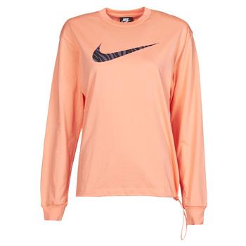 Vêtements Femme T-shirts manches longues Nike NSICN CLSH LS TOP HBR Rose / Violet