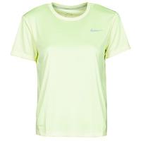 Vêtements Femme T-shirts manches courtes Nike MILER TOP SS Vert / Gris