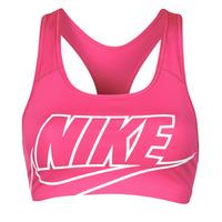 Vêtements Femme Brassières de sport Nike DF SWSH FUTURA GX BRA Rose / Blanc
