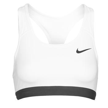 Vêtements Femme Brassières de sport Nike DF SWSH BAND NONPDED BRA Blanc / Noir