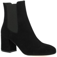 Chaussures Femme Bottines Sofia Costa Boots cuir velours Noir