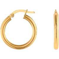 Montres & Bijoux Femme Boucles d'oreilles Cleor Créoles  en Or 375/1000 Jaune Jaune