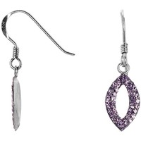 Montres & Bijoux Femme Boucles d'oreilles Cleor Boucles d'oreilles  en Argent 925/1000 et Oxyde Violet Blanc