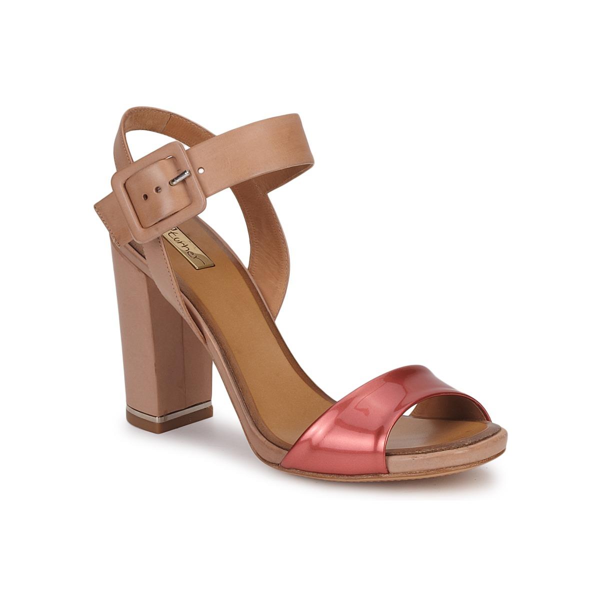 Sandale Eva Turner CHANTEVIEL Bronze rouge
