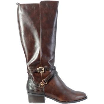 Chaussures Femme Bottes ville The Divine Factory Bottine QL4058 Marron Foncé