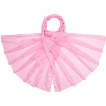Accessoires textile Femme Echarpes / Etoles / Foulards Allée Du Foulard Etole soie unie  candy Rose candy