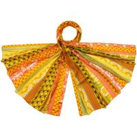 Accessoires textile Femme Echarpes / Etoles / Foulards Allée Du Foulard Etole soie Regazza Orange
