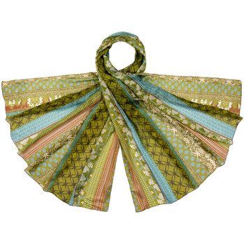 Accessoires textile Femme Echarpes / Etoles / Foulards Allée Du Foulard Etole soie Regazza Vert