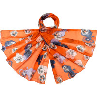 Accessoires textile Femme Echarpes / Etoles / Foulards Allée Du Foulard Etole soie Cogita Orange