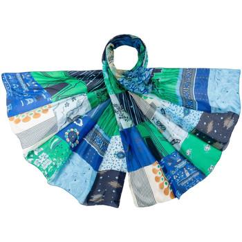 Accessoires textile Femme Echarpes / Etoles / Foulards Allée Du Foulard Etole soie Pitchy Bleu
