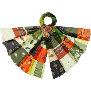 Accessoires textile Femme Echarpes / Etoles / Foulards Allée Du Foulard Etole soie Pitchy Vert