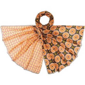 Accessoires textile Femme Echarpes / Etoles / Foulards Allée Du Foulard Etole soie Manao Orange